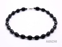 18x13mm Black Agate Necklace