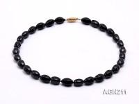 14×8.5mm Black Agate Necklace