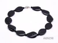 35x23mm Black Agate Necklace