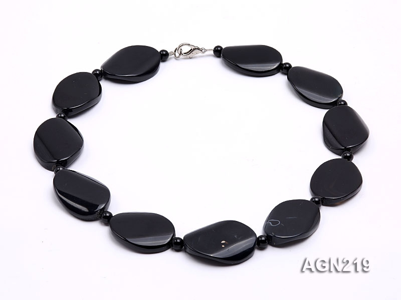 35x23mm Black Agate Necklace
