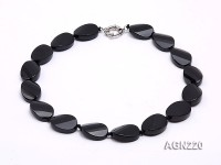 25x18mm Black Agate Necklace