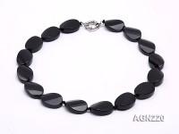 25x18mm Black Agate Necklace