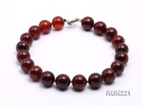 20mm Red Round Agate Necklaces