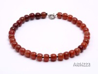 10x14mm Red Cylinder-shaped Agate Necklace
