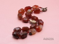20x14mm Red Irregular Faceted Agate Necklace