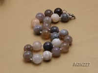 18mm Multicolor Round Agate Necklace