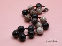 22mm Round Faceted Agate Necklace