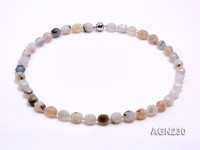 13x11mm Multicolor Irregular Agate Necklace