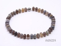 14x9mm Wheel-shaped Agate Necklace