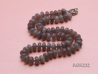 12x6mm Wheel-shaped Agate Necklace