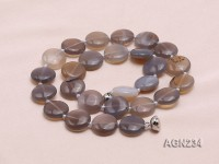16.5mm Disc-shaped Agate Necklace