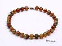 14mm Colorful Round Faceted Agate Necklace
