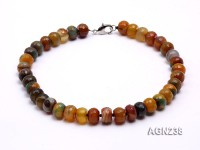 16x11mm Colorful Faceted Agate Necklace