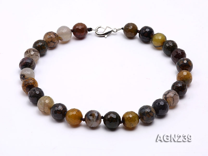 16.5mm Colorful Faceted Agate Necklace