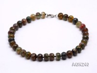 15x11mm Colorful Faceted Agate Necklace