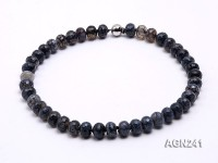 13.5×9.5mm Multi-color Faceted Agate Necklace