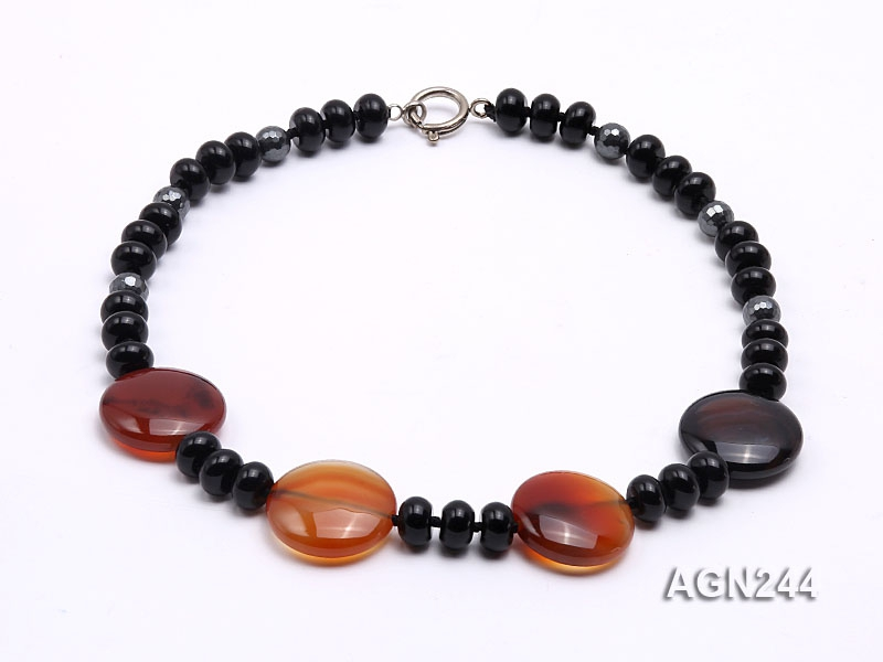 10x6mm Black Agate Necklace
