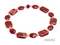 40x30mm Red Agate Necklace