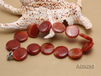 27mm Red Disc-shaped Agate Necklace
