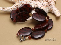 40x30mm Oval Agate Necklace