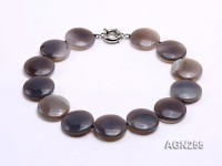 30mm Disc-shaped Agate Necklace