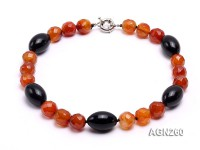 16mm Red Round Faceted Agate Necklace