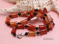 20x13mm Red Agate Necklace