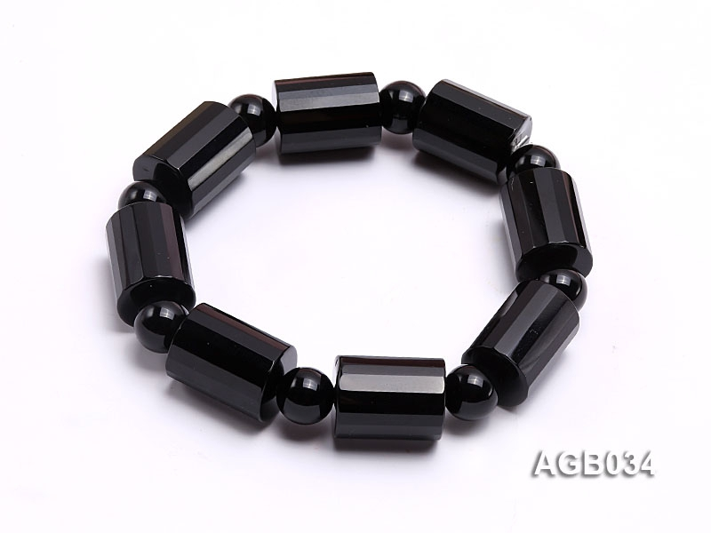 18x14mm Black Agate Bracelet