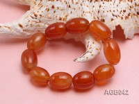 20x15mm Orange Oval Agate Bracelet