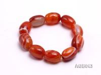 21x15mm Red Oval Agate Bracelet