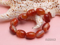 21x15mm Red Oval Agate Bracelet