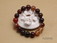 12.5mm Multi-color Round Agate Bracelet