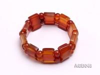 20x15mm Red Agate Bracelet