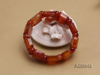 20x15mm Red Agate Bracelet