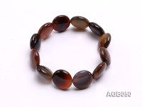 16mm Round Disc Agate Bracelet