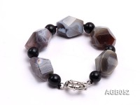 20x16mm Irregular Agate Bracelet