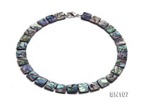 14x14mm Oval Abalone Shell Necklace