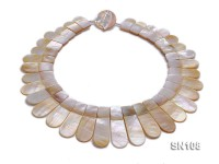 10×25-10x55mm White Shell Pieces Necklace