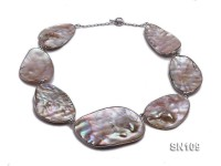 50×32-70x46mm Pink Carved Shell Necklace