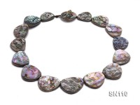 22×18-32x26mm Oval Abalone Shell Necklace