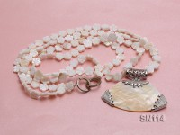 10mm White Shell Pieces Necklace