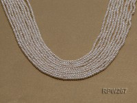 Wholesale 2mm Classic White Round Freshwater Pearl String