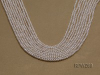 Wholesale 3mm Classic White Round Freshwater Pearl String