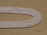 Wholesale 2-3mm Classic White Round Freshwater Pearl String