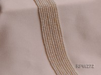 Wholesale 2.8-3mm Classic White Round Freshwater Pearl String