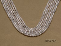 Wholesale 3-4mm Classic White Round Freshwater Pearl String