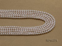 Wholesale 5mm Classic White Round Freshwater Pearl String