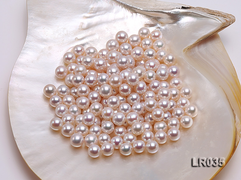 9.5-10.5mm White Round Freshwater Loose Pearl