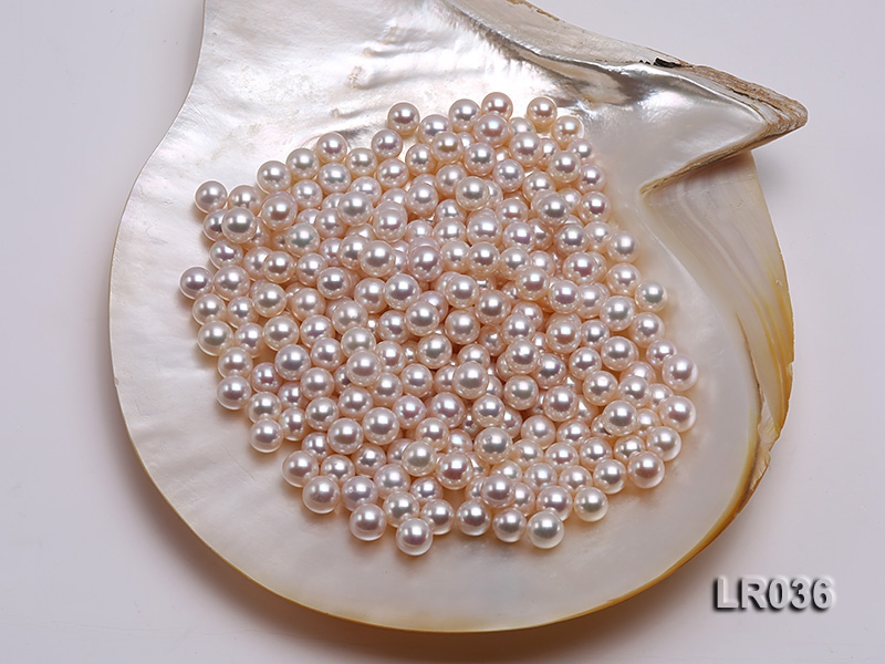8.5-9.5mm White Round Freshwater Loose Pearl