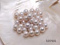13-14mm White Round Loose Edison Pearl
